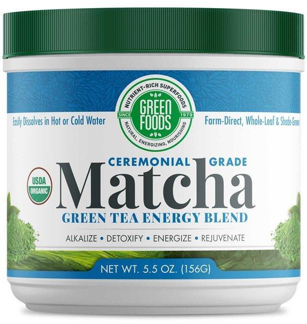 Bio Matcha Green Tea 156 g (sproszkowana japońska zielona herbata) - Green Foods USA